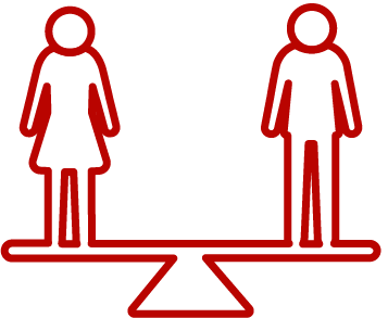 icon representing equality for the Black Country Women's Aid forced marriage and honour based violence services