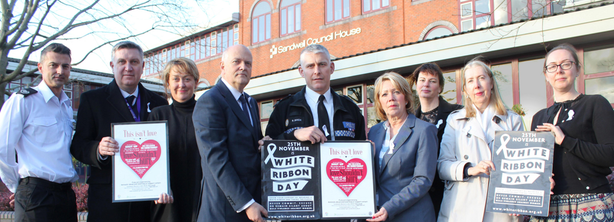 White Ribbon Day in Sandwell